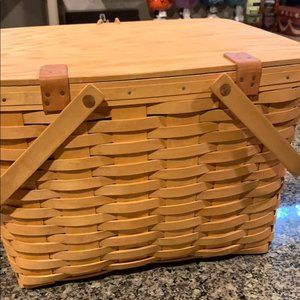 Longaberger large picnic basket